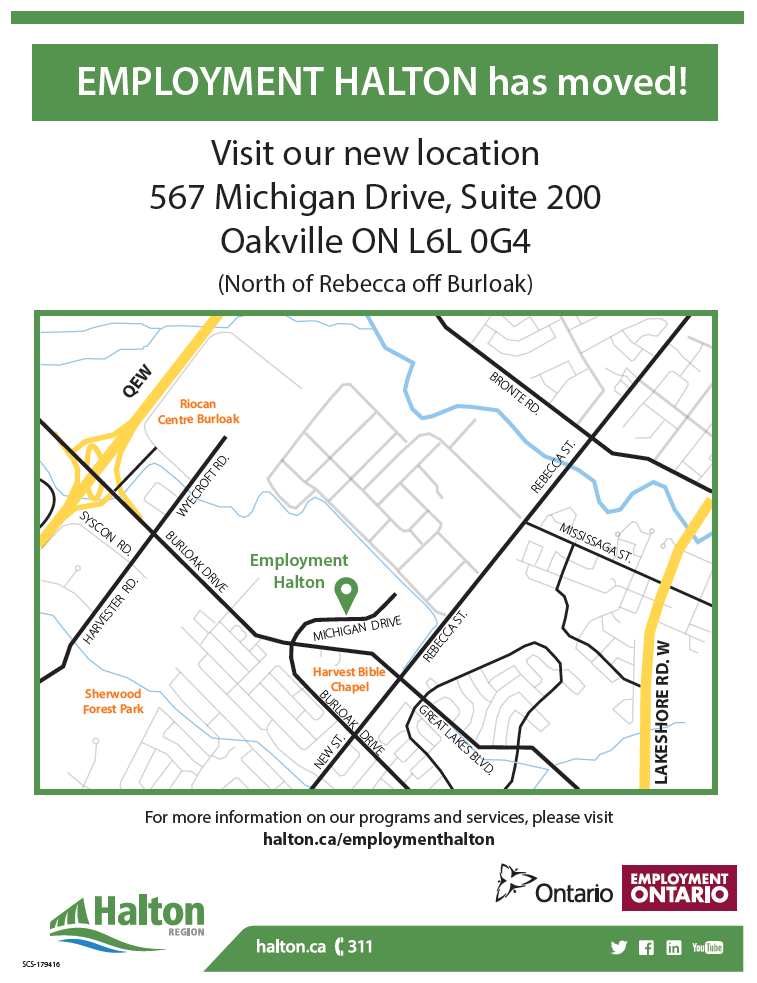 Employment Halton has moved!